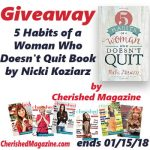 Giveaway – 5 Habits of a Woman Who Doesn't Quit Book